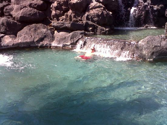 Waikoloa Beach Marriott Resort & Spa: Waterfall in the pool, very relaxing!
