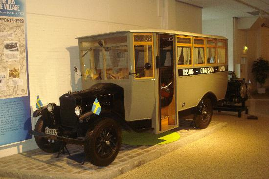 Volvo Museum: Volvo Bus purchased by a village grocer to carry people between two villages especially for a Sa