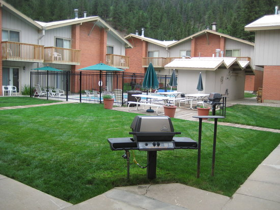 Edelweiss Condominiums: Central Courtyard with Pool/Sauna, Grills and Picnic Area