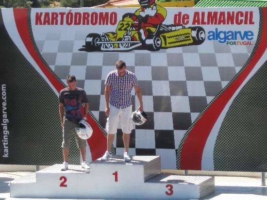 Karting Almancil Fun Park: On the podium