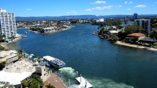 Moorings on Cavill Avenue: the view from balcony