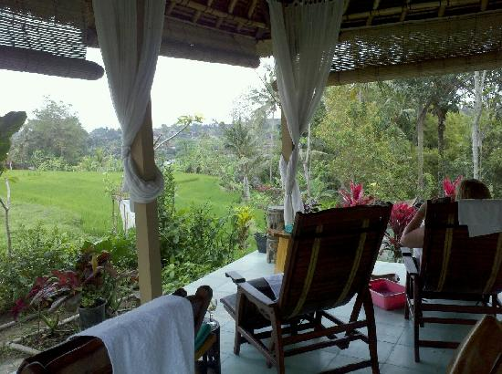 Cantika Spa: View from facial and pedicure area