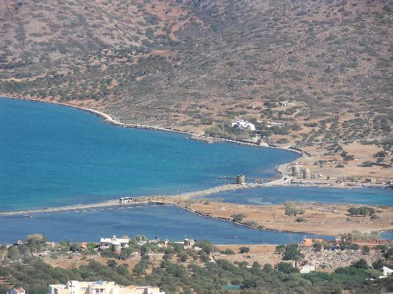 Elounda Island Villas: Overview of the villas on the peninsula of Spinalonga