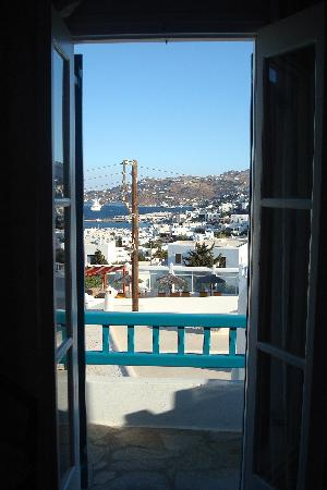 Nazos Hotel: View from inside to the balcony