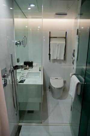 โรงแรมโซล พลาซ่า: Bathroom, view from the room