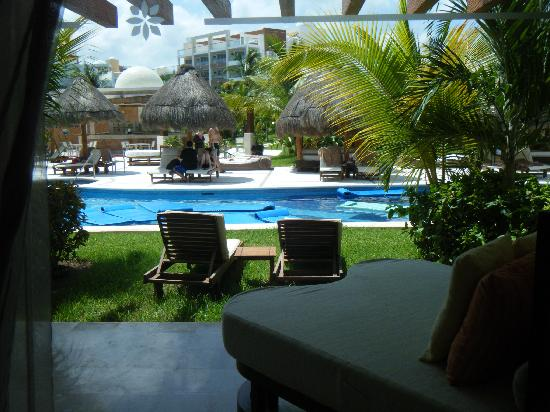 Excellence Playa Mujeres: view of our swim up room in bldg 7