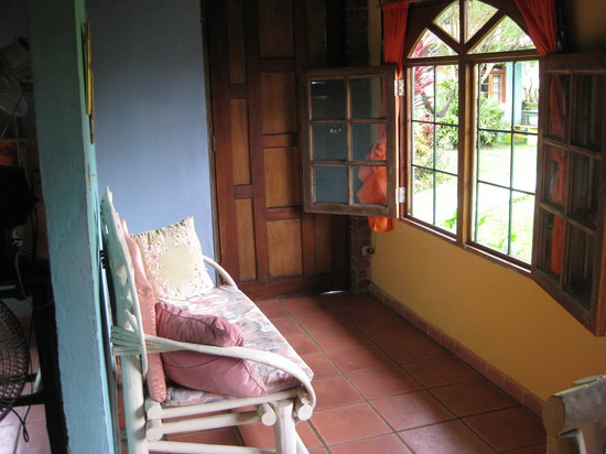 Cabanas de Colores: Living room area.  Sleeping area to left.