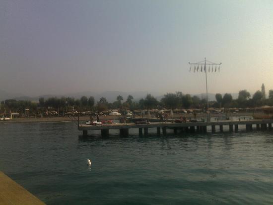 Club Tuana Fethiye: Looking back to Tuana from Boat