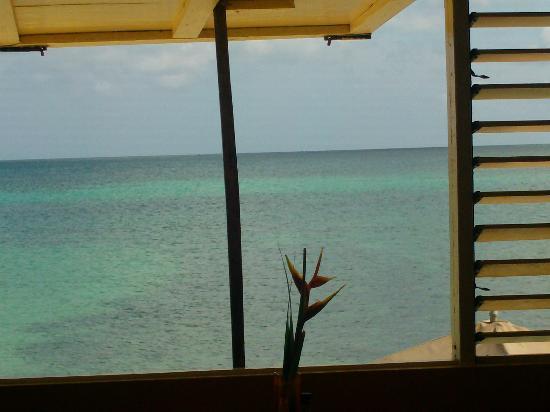 Canoe Bar: window view to the sea