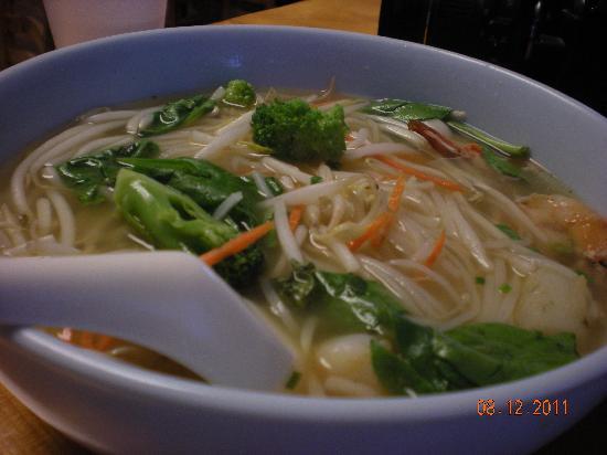 Teriyaki Box: Seafood Noodle Soup $12