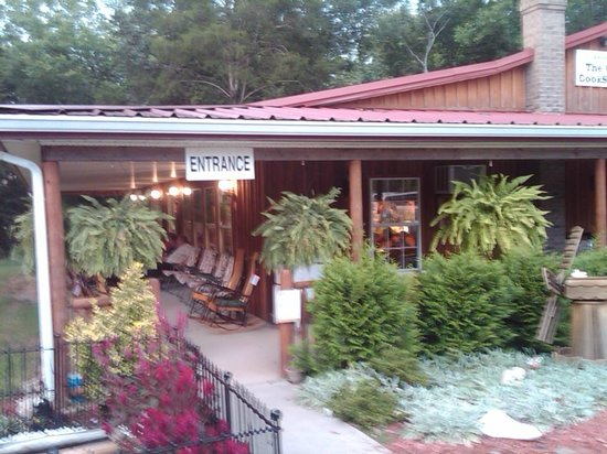 The Old Cookstove Restaurant: The sitting porch.....