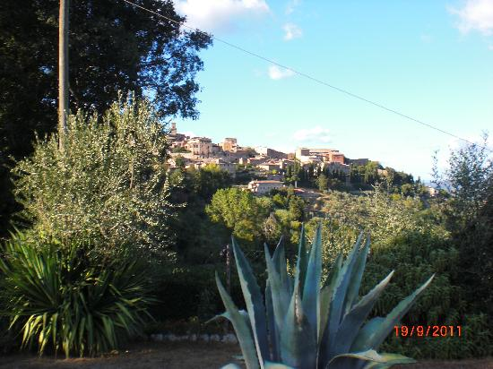 Il Colto: View of San Gimignano from the garden
