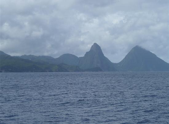 Hackshaw's Boat Charters: Ah, the Pitons...