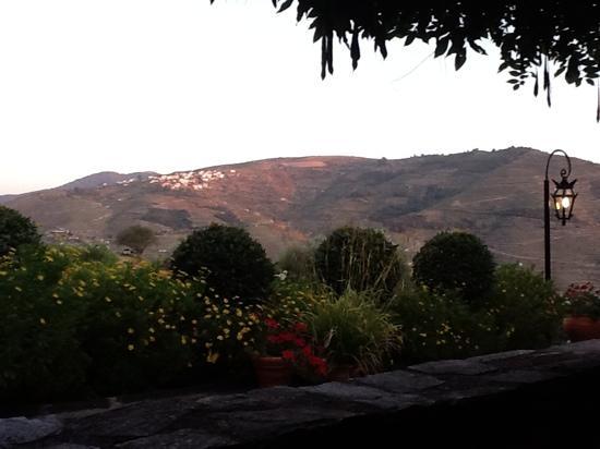 Casa do Visconde de Chanceleiros: view from our suite at dusk