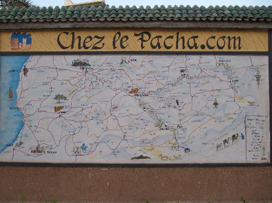 Chez le Pacha: Map of the area and the route we took crossing the Sahara
