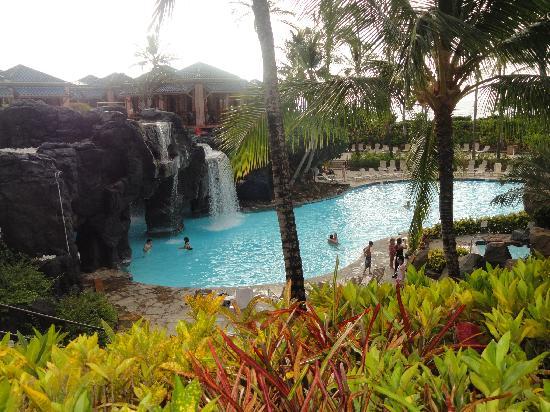 Hilton Waikoloa Village: Lagoon waterfall