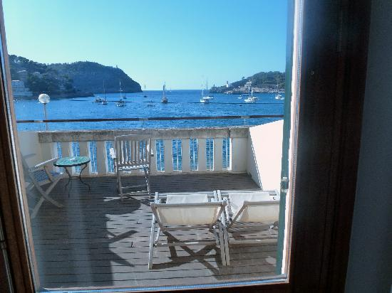 Esplendido Hotel: Our terrace, with view of harbor