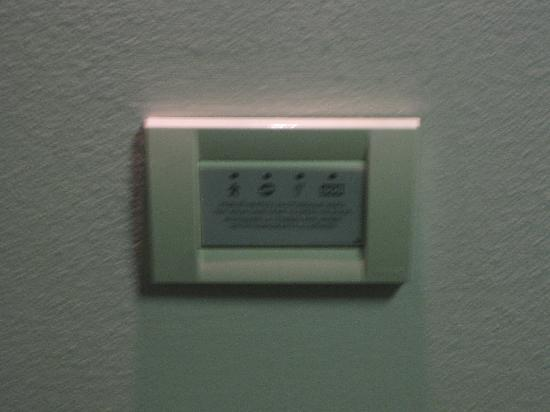Hotel Lapad: Room entry control panel!  There's another one for the lights in the room.