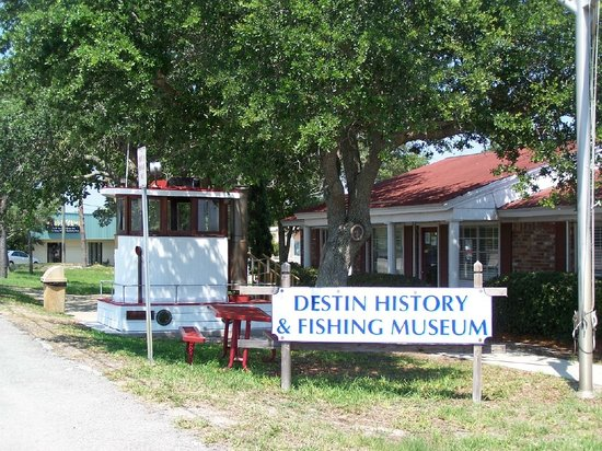 Destin History & Fishing Museum: Museum is located at 108 Stahlman Avenue.