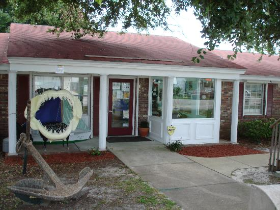 Destin History & Fishing Museum: Shark tank featuring four sharks.