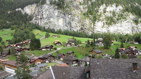 Hotel Staubbach: view of valley from our room