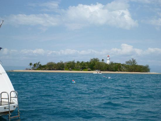 Aquarius - Sail & Snorkel: The Low Isles island with lighthouse.