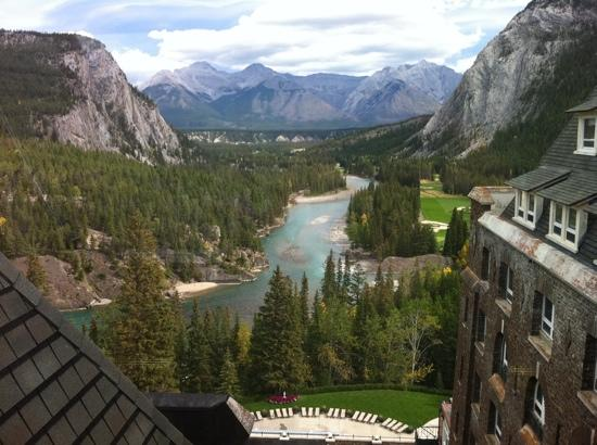 Fairmont Banff Springs: the view from my room on 8th floor