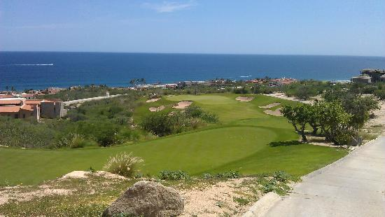 Puerto Los Cabos Golf Club: Par 3, Hole #6--Fantastic views and a massive drop to the green (not easy to see here).