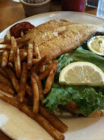 Tahquamenon Falls State Park: Whitefish sandwich and fries