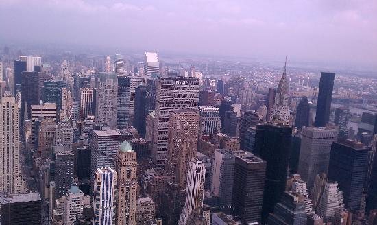 Empire State Building: A view looking northeast from the 86th observation deck
