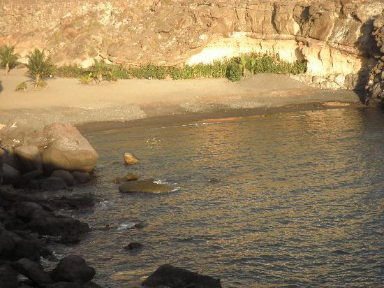 Hotel Riu Buena Vista: Pequeña playa al lado del hotel Riu Buenavista
