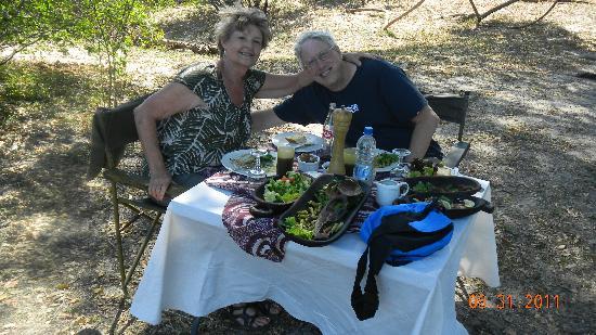 Tongabezi: Island Lunch