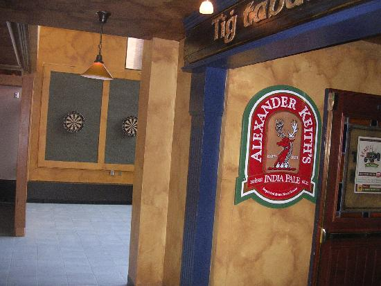 Nav Centre: pub with darts
