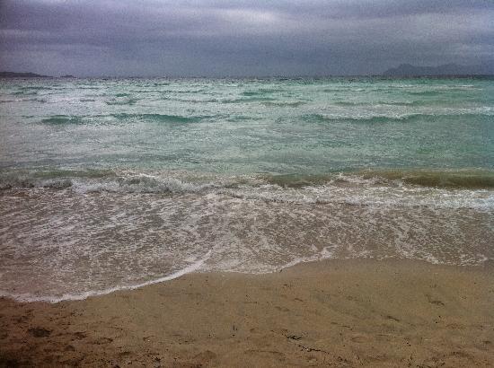 Las Gaviotas Suites Hotel: The beach on a rainy day