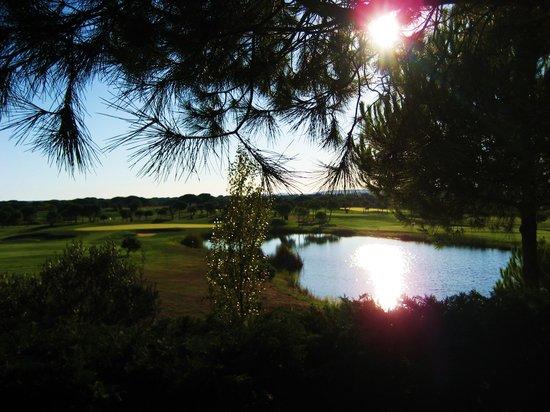 Precise Resort El Rompido - The Apartments: vistas al lago desde el kiosco-bar