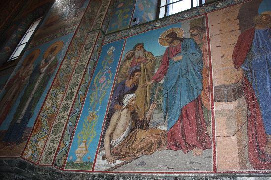 โบสถ์แห่งหยดพระโลหิตพระผู้ไถ่: mosaics