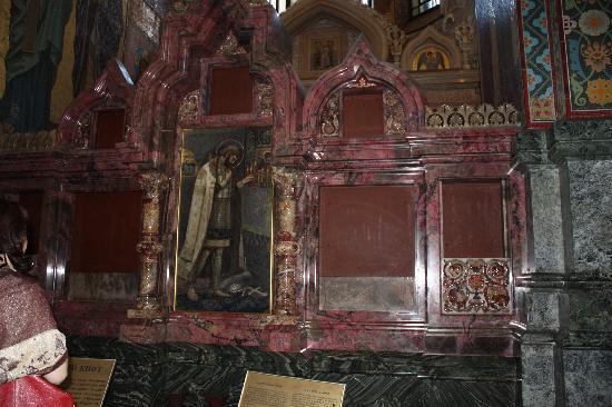 โบสถ์แห่งหยดพระโลหิตพระผู้ไถ่: northern icon case