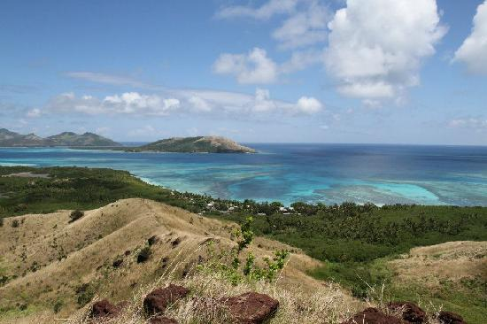 Blue Lagoon Beach Resort: View over the resort from the hills behind