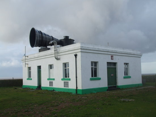 Flatholm Nature Reserve: Fog horn which is not currently working