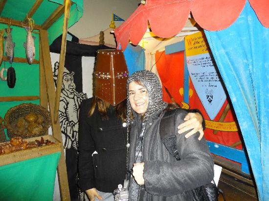 Dublinia: Experience Viking and Medieval Dublin: You can wear these heavy helmets and have pix taken