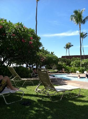 Ka'anapali Beach Hotel: pool courtyard area