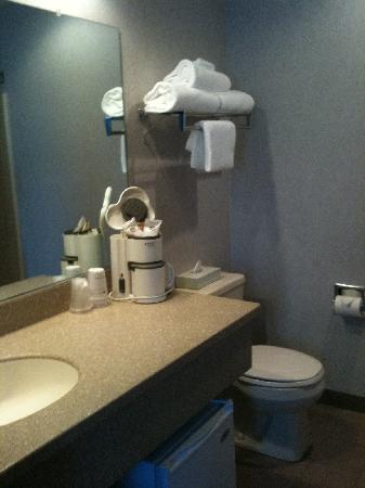 Best Western Harbour Pointe Lakefront: Bathroom with coffee maker