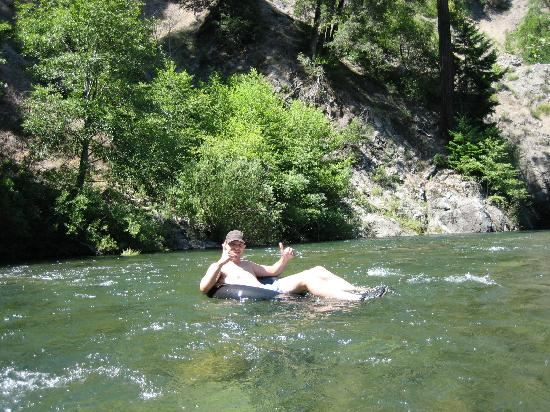 Big Bend Lodge : Greg - tubing down the river.