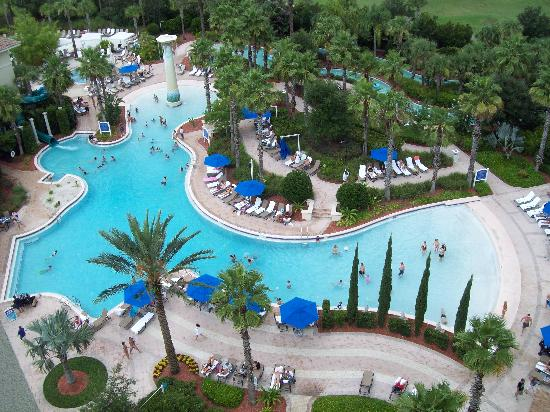 Omni Orlando Resort at Championsgate: A view of one of the pools from our room.