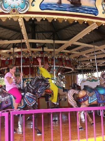 Family Kingdom Amusement Park: Grandma having a great time.