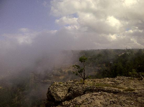 Grand Adventures: We were at the same level as the canyon clouds.
