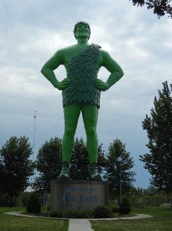 Green Giant Statue Park: The Jolly Green Giant Himself!