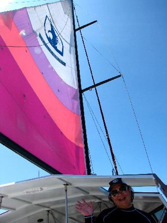 Mauna Lani Sea Adventures: Slow sailing on a calm day = relaxing!