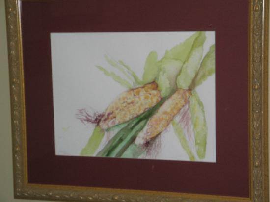 Burch Family Restaurant: Children's painting on display