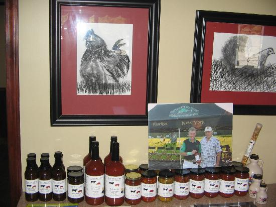 Burch Family Restaurant: Items for sale